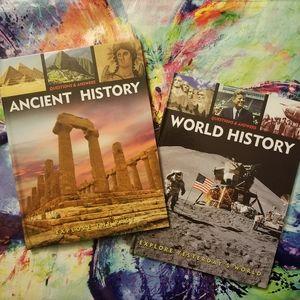 Set of 2 Books: Q & A, Ancient & World History NWT
